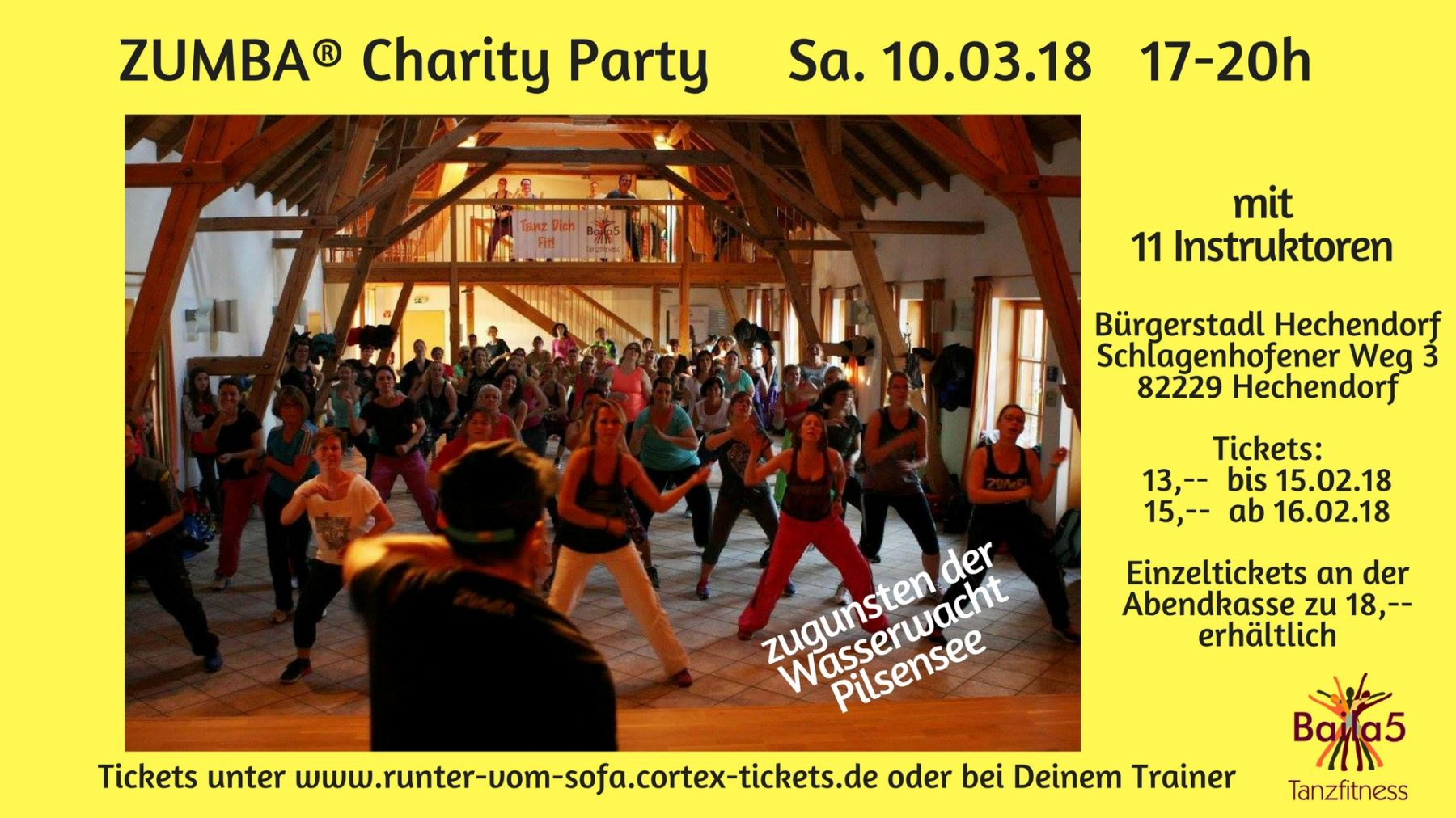 tickets f r zumba charity party am kaufen. Black Bedroom Furniture Sets. Home Design Ideas